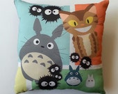 Totoro and Friends Pillow (Made to Order)