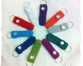 Sparkly Bling Lip Balm Holder, 20 Colors, Crochet Keychain for Chap Stick, Lip Gloss, Lip Stick, Lip Balm