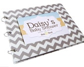 Baby Shower Guest Book - Gray Chevron