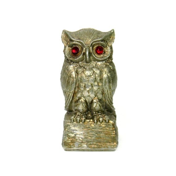 owl home decor metal owl bank vintage 1960s home decor with by 30183