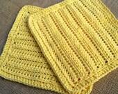 Crochet Dishcloth Washcloth Dish Cloth Wash Cloth Kitchen Bathroom Set of 2 d