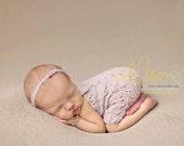 Newborn Overalls, Photo Prop, Lace Overalls