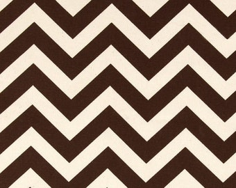 Brown Chevron Curtain Panels or Valance