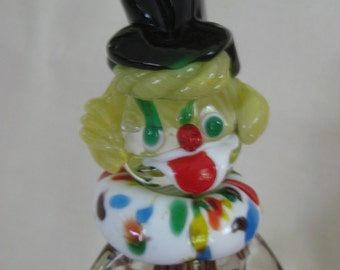 Vintage Murano Glass Clown Holding Marble