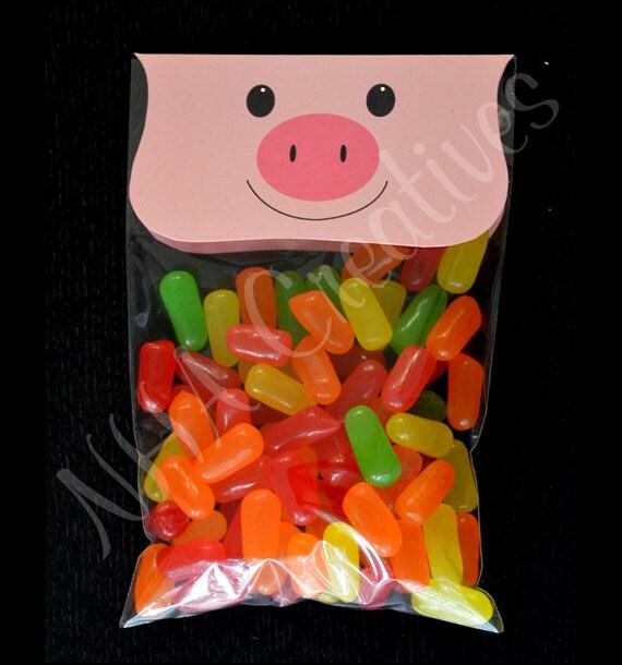 Pig Treat Bag Topper - DIY Printable Digital File