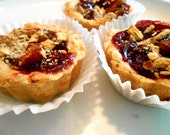 STRAWBERRY, PRETZEL, Mini Pies, Butter Crust, Handmade,Favors, Buffets, Desserts