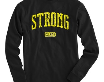 LS Strong Island Tee - Long Sleeve T-shirt - Men and Kids - S M L XL 2x 3x 4x - Long Island New York T-shirt - 4 Colors