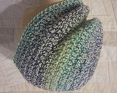 Striped tweed slouchy beanie, crochet rainbow hat, colorful hat, striped beanie, unisex hat, mens hat, womens hat, tweed beanie, tweed hat