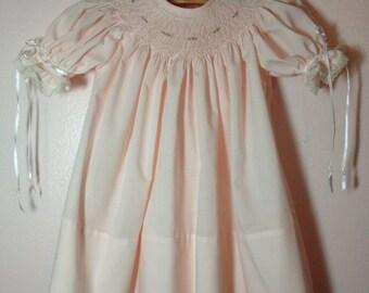 Baby Girl Smocked Bishop Dress 6 mo.