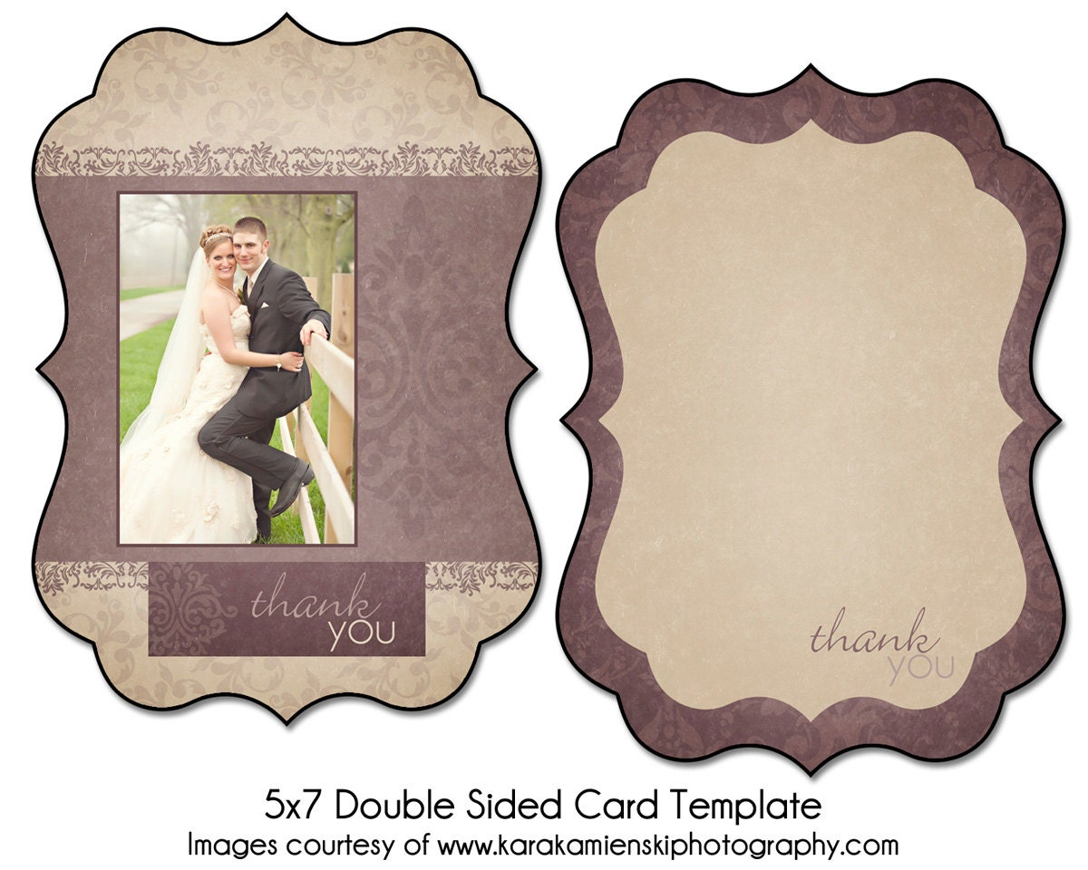 lilac love 5x7 double sided thank you card template. Black Bedroom Furniture Sets. Home Design Ideas