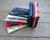 Your choice of any 5 compact 3 pocket credit / business card wallet change purse