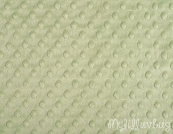 Minky Fabric By The Yard Sage Green Minky Dimple Fabric
