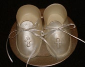 Gumpaste Life Size Baby Shoes Booties for Baptism Christening or Baby Shower