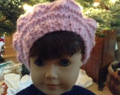 Pretty pink winter hat for the American Girl doll.