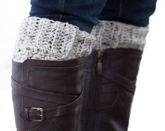 Boot Cuffs Boot Socks Boot Topper Leg Warmers -Oatmeal~SALE~