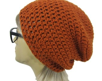 Slouch Beanie -Rust-Ready to Ship