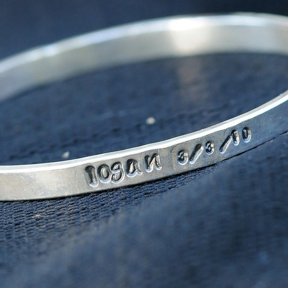 Personalized Bangle Bracelet - Personalized Bangle - Personalized Jewelry - Mother's Personalized Bracelet