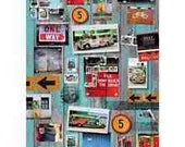 Retro Style Manilla Road Signs Print Decoupage Paper - Craft Decorate - Pack 10 Sheets
