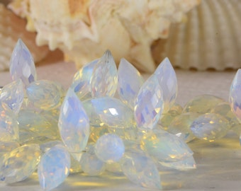 Opalite Beads  15x6.5mm Opalite Faceted Teardrop Beads Jewelry making Supplies
