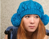 Hand Knit Hat   The  Ear Flap Hat     Accessories Winter Accessories