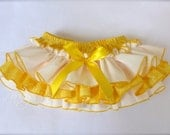 A Beautiful Parley Ray Custom Boutique Yellow Dragonfly Ruffled Baby Bloomers/ Diaper Cover / Photo Props