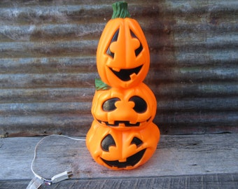 Popular items for halloween blow mold on etsy for 3 tier pumpkin decoration