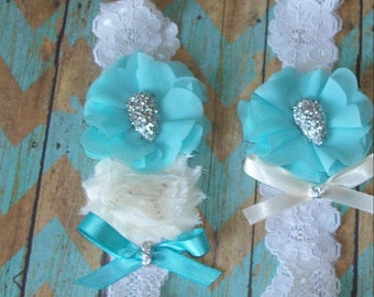 Wedding Sale,Teal Garter,Teal Wedding,Garter Set,Teal Garter Set,Rhinestone Garter Set,Wedding Garter Set,Plus Size Garter Set,Garter Sale