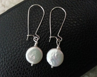 Fresh Water Coin Pearl Earring
