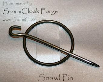 Round Steel Wire Shawl Pin