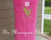 Tulip Hooded Bath Towel Wrap Beach Towel Wrap Toddler Baby Children Kids Personalized - FREE MONOGRAMMING