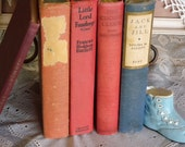 The Vintage Red and Blue Book Collection ~ Home Decor ~ Vintage Display Book Collection