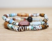 Mercer Mayer Recycled Paper Bead Jewelry Made From The Book Pages of Me Too, Mom Gift, New Mommy Gift, Teacher Gift