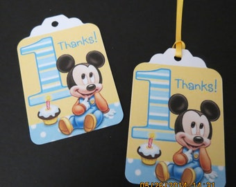 Baby Mickey's 1st Birthday Favor/Gift Tags
