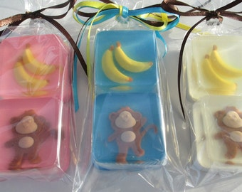 Monkey and Banana Soap Favors for birthday, baby shower