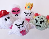 Boo ghosts (from Super Mario) - PDF crochet pattern