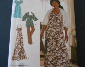 Simplicity 2947,  Sundress, top, pant, jacket,  size 18w to 24w