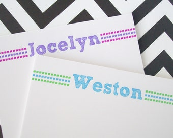Personalized Notepad - Children's Notepad - Monogram Notepad - Teacher's Notepad - You Pick Colors