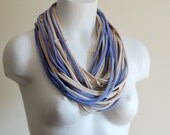 Periwinkle Infinity Scarf - Fabric Necklace
