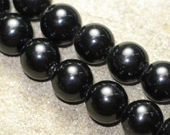 Black obsidian 6mm rounds are perfect for a mala