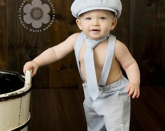 Boy Birthday Outfit, Baby Boy, Ring Bearer Outfit, Cake Smash Outfit, Four Tiny Cousins, Boy Photo Prop, First Birthday Outfit, Newsboy