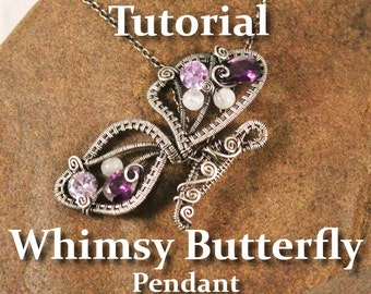 Whimsy Butterfly, Wire Wrapped Pendant TUTORIAL
