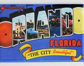 Greetings from Orlando Fridge Magnet (2 x 3 inches)