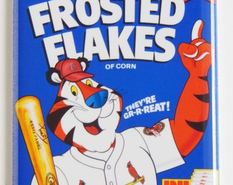 St. Louis Cardinals Cereal Box Fridge Magnet (2 x 3 inches)