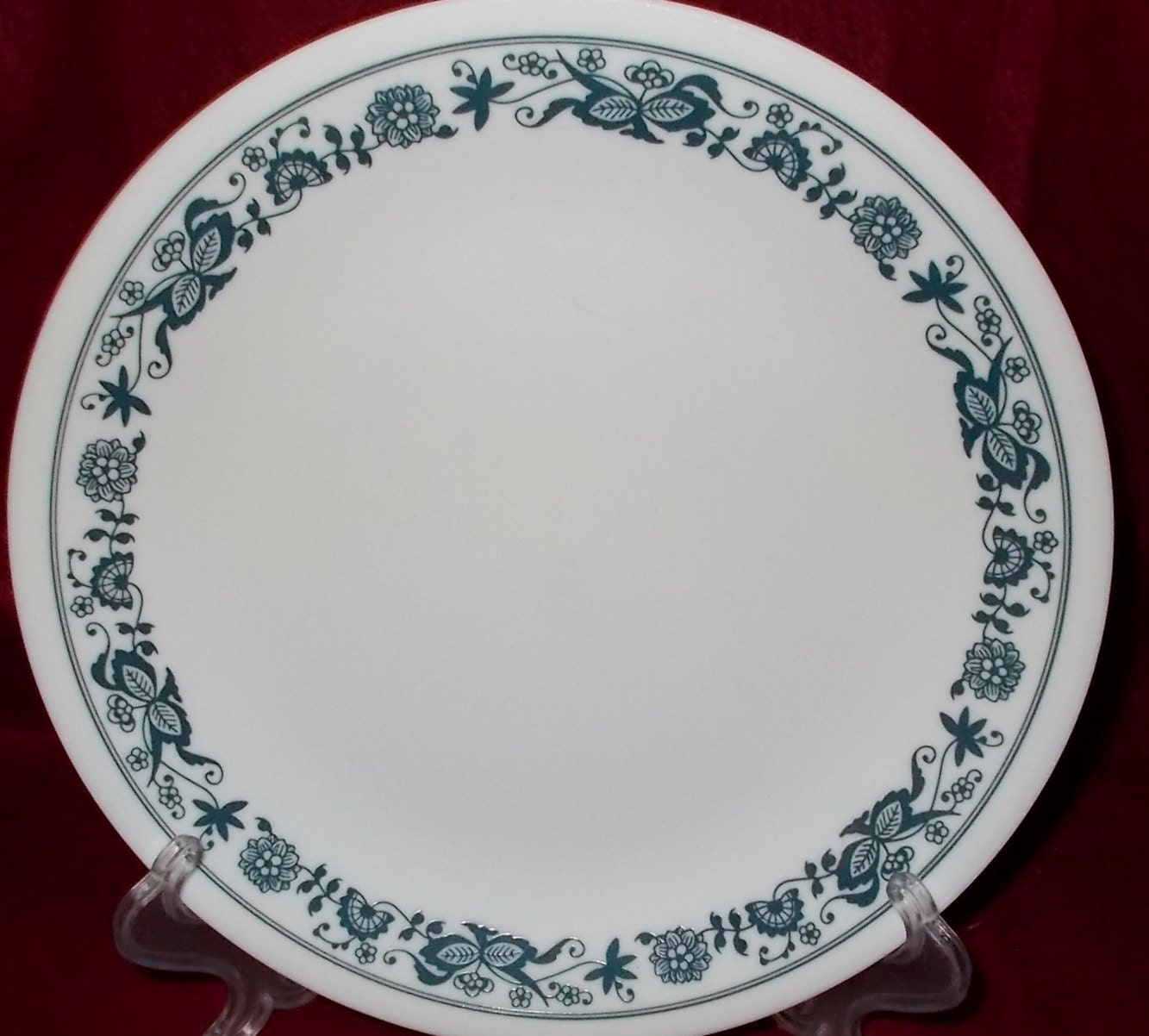 Corelle Blue Onion Old Town Blue Salad Plate Two Corning Ware