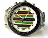 Mens Watch. Recycled Skateboards. Skate Art