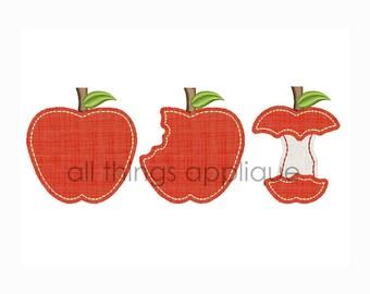 Apple Bites BEAN Stitch - 4 Sizes - Instant Download
