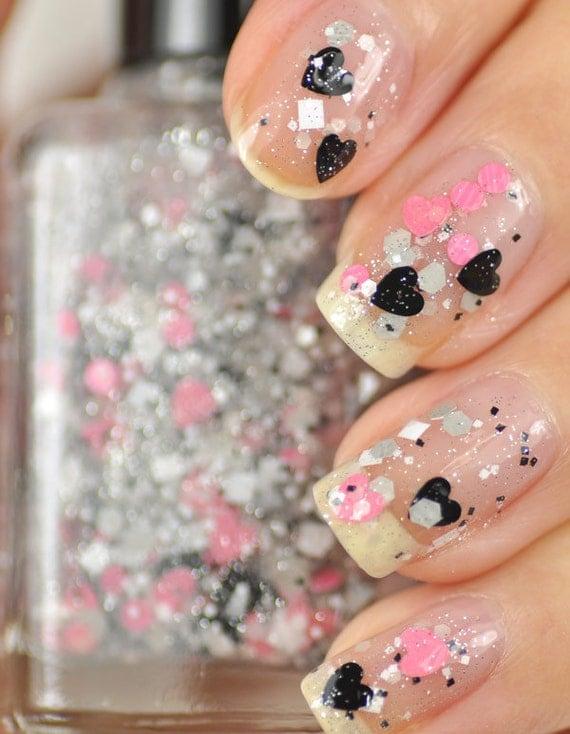 Heart Glitter Nail Polish