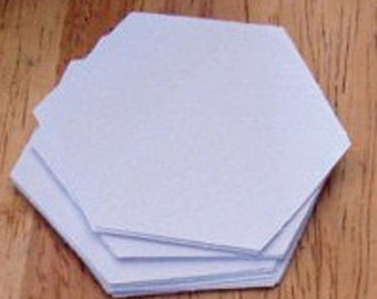 "1 1/4 "" Hexagon Paper Pieces, English Paper Piecing, Scrapbooking and Jewelry Supply"
