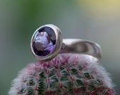 Amethyst Ring - Big Purple Amethyst Ring - Purple Amethyst  Set in Sterling Silver - Made to fit and free shipping