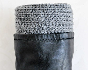 GREY BOOT CUFFS  - Great Gift - Accessory